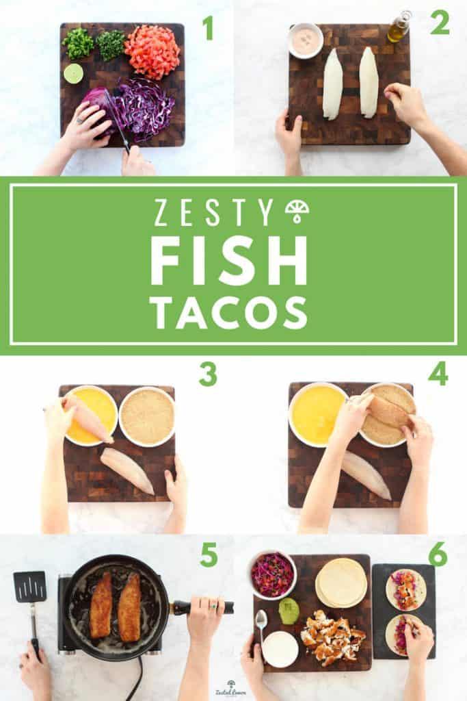 Instructions to make crispy fish taco recipe.